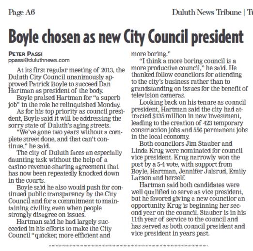 Boyle chosen as new City Council president