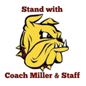 Stand with Coach Miller &  Staff